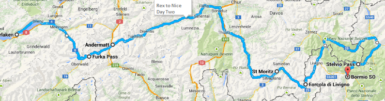 Banger rally Rex to NIce route for day 2